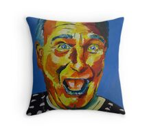 Robbin Williams acrylic on paper Throw Pillow