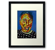 Robbin Williams acrylic on paper Framed Print