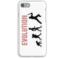 Evolution of Mankind (for cricketers) iPhone Case/Skin