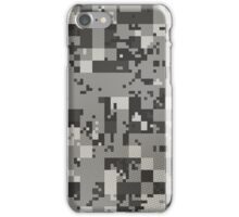Cube Camo - Gray iPhone Case/Skin