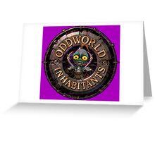 ODDWORLD BIG PLANET Greeting Card