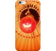 Red Bulb in a Lampshade iPhone Case/Skin