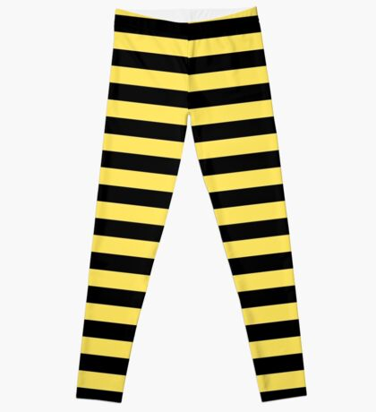 Me Before You - Black and Yellow Stripes Leggings