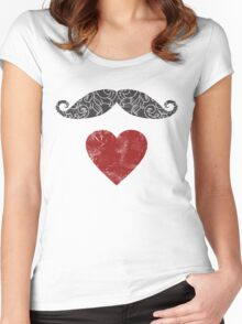 Moustache lovers Women's Fitted Scoop T-Shirt