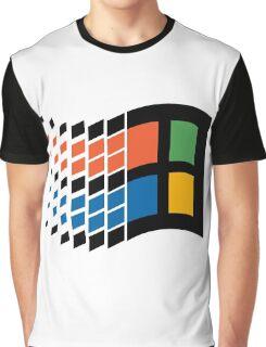 Windows 95 Vaporwave Graphic T-Shirt