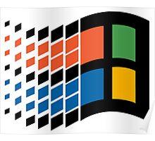 Windows 95 Vaporwave Poster