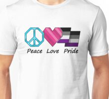 Asexual Peace, Love, and Pride Unisex T-Shirt