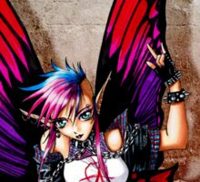 Punk Fairy with background Sticker
