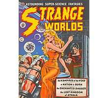 Strange Worlds - Astounding Super-Science Fantasies Photographic Print