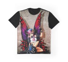 Punk Fairy with background Graphic T-Shirt