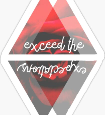 Exceed the Expectations Sticker