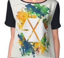 EXO Watercolor Chiffon Top