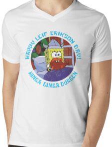 Happy Leif Erikson Day! Mens V-Neck T-Shirt