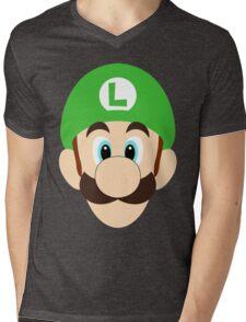 Simplistic Luigi Mens V-Neck T-Shirt