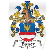 Bauer Coat of Arms (German) Poster