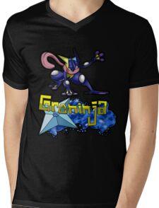 Greninja Pokemon Tee Mens V-Neck T-Shirt