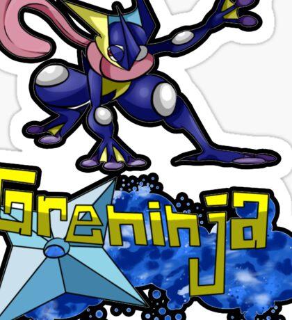 Greninja Pokemon Tee Sticker