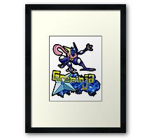 Greninja Pokemon Tee Framed Print