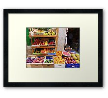 The Fruit And Vegetable Shop Framed Print