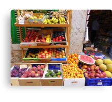 The Fruit And Vegetable Shop Canvas Print