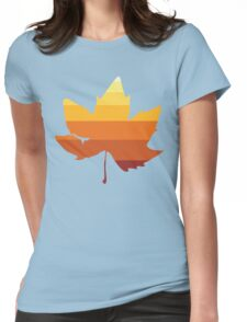 Retro Fall Leaf Womens Fitted T-Shirt