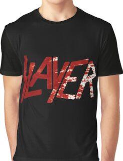 SLAYER Metal Band Logo Blood Spatter BLACK Graphic T-Shirt