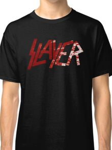 SLAYER Metal Band Logo Blood Spatter BLACK Classic T-Shirt