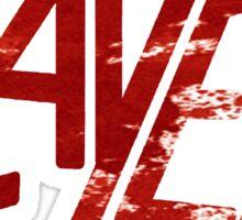 SLAYER Metal Band Logo Blood Spatter BLACK Sticker