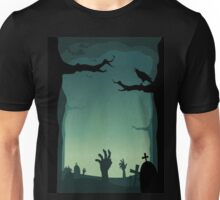 Halloween Cemetery Unisex T-Shirt