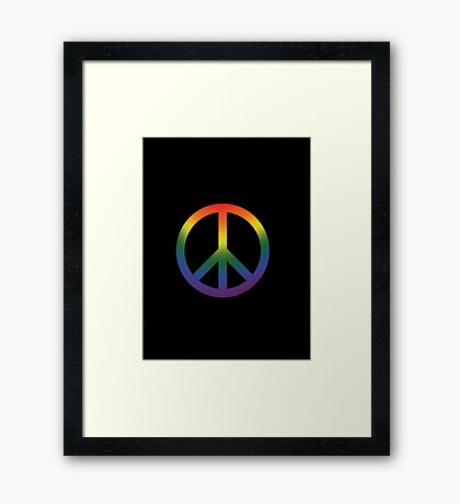 The Colors of Love are Infinite Framed Print