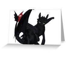 """Toothless"" Greeting Card"