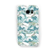 Whales and Waves Pattern Samsung Galaxy Case/Skin