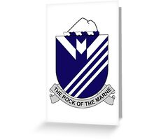 38th Infantry Regiment - The Rock Of The Marne Greeting Card