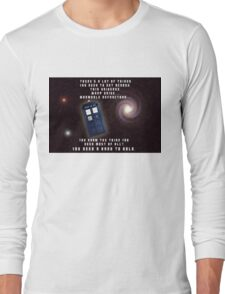 Doctor Who You need a hand to hold Long Sleeve T-Shirt