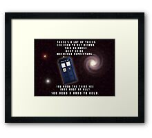 Doctor Who You need a hand to hold Framed Print