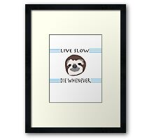 Sloth Life Framed Print