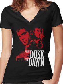FROM DUSK TILL DAWN Women's Fitted V-Neck T-Shirt