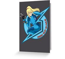 Zero Suit Samus Greeting Card