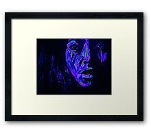 She lost at monopoly.  Framed Print