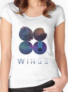 BTS-Jimin-LIES [White] Women's Fitted Scoop T-Shirt