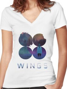BTS-Jimin-LIES [White] Women's Fitted V-Neck T-Shirt