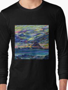 Rainbow sky at night, painters delight Long Sleeve T-Shirt