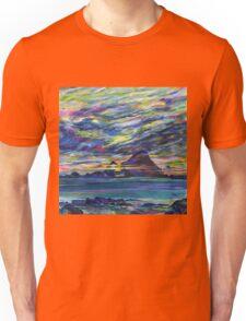 Rainbow sky at night, painters delight Unisex T-Shirt