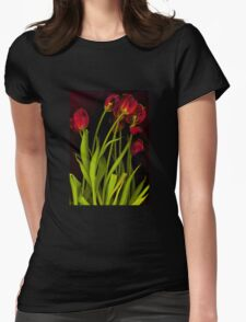 Hot Tulips Womens Fitted T-Shirt