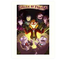 Circus of Freaks Cover revamped Art Print