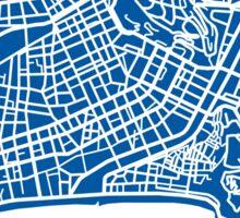Nice Map - Deep Blue Sticker