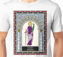 ST SABINA OF ROME under STAINED GLASS Unisex T-Shirt