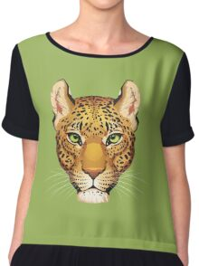 Leopard Face Chiffon Top
