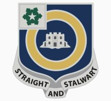 41st Infantry Regiment - STRAIGHT AND STALWART by VeteranGraphics