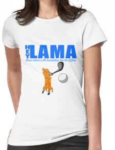 Hey Lama Womens Fitted T-Shirt